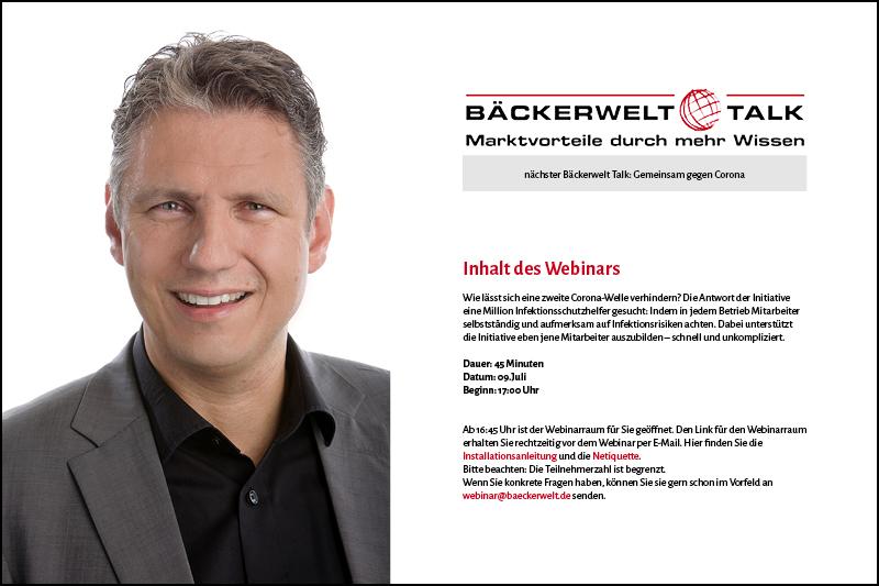 Nächster Bäckerwelt Talk mit Dr. Jens-Uwe Meyer