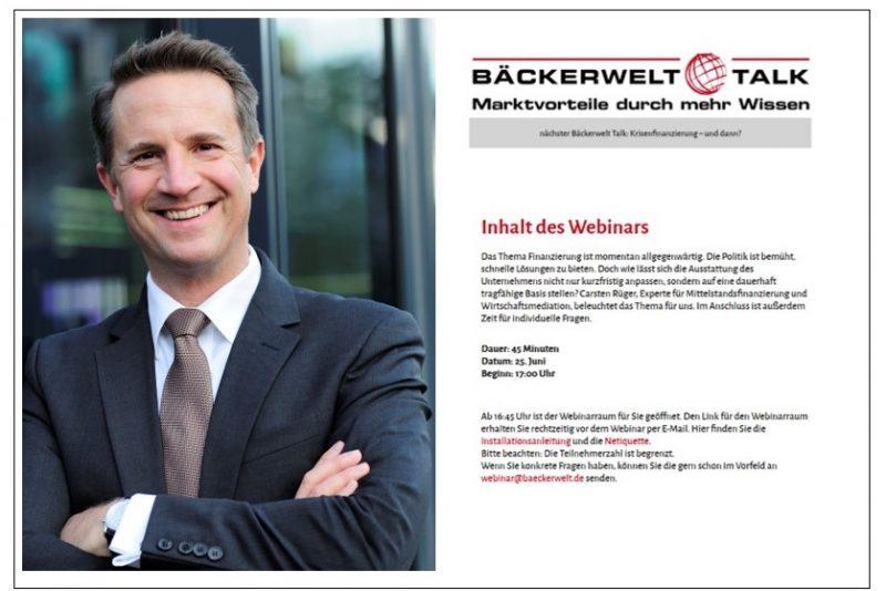 Nächster Bäckerwelt Talk mit Carsten Rüger