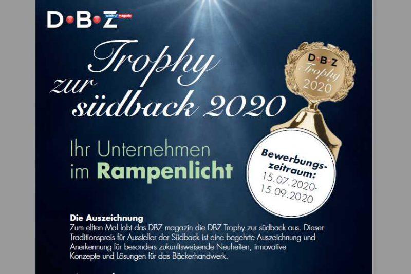Trophy zur südback – bis 15.09.2020 bewerben!