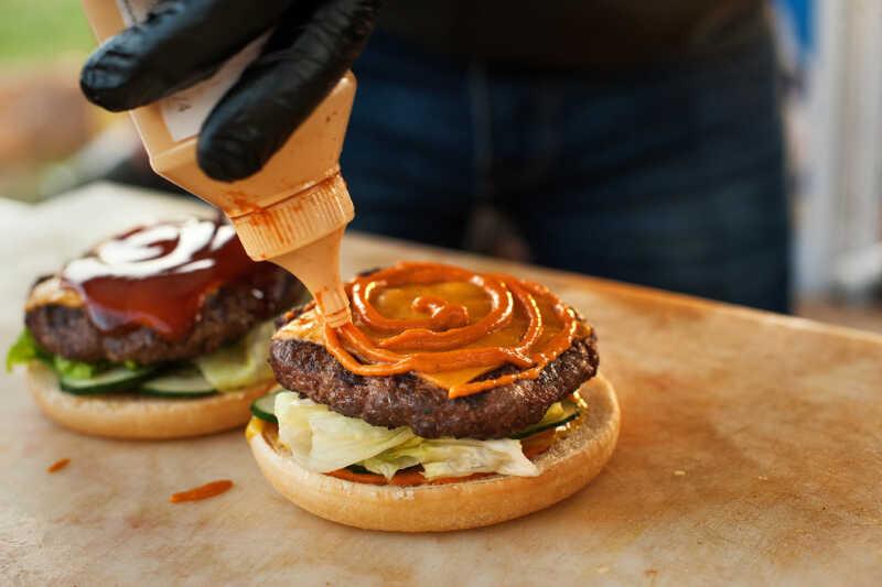 Burger und Fleischersatzprodukte