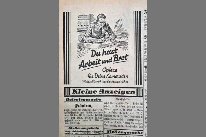 """Bäckerhandwerk im """"Dritten Reich"""""""